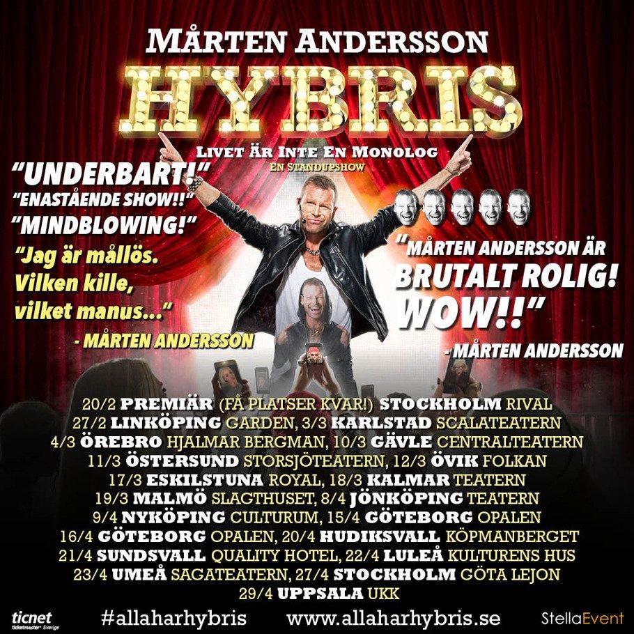 Premiären av HYBRIS 20/2 UTSÅLD!!