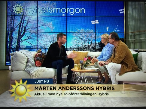 VIDEO: Mårten intervjuad i TV4 nyhetsmorgon om HYBRIS.